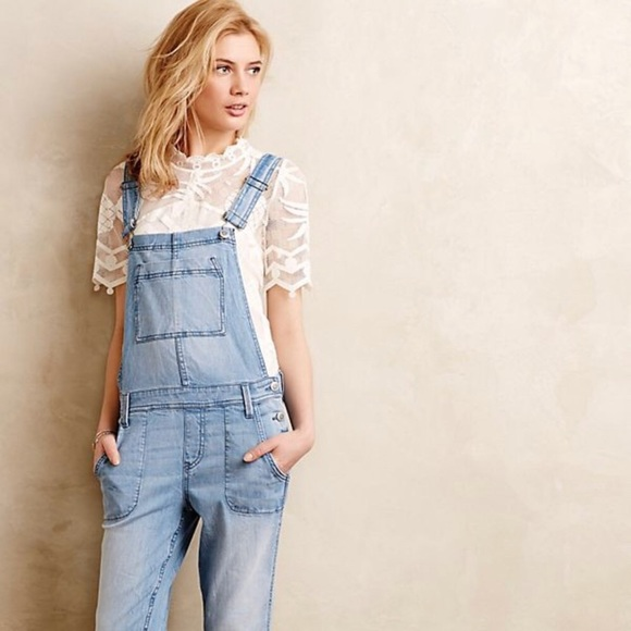5c6156709eb Anthropologie Level 99 Chambray Overalls XS NWT